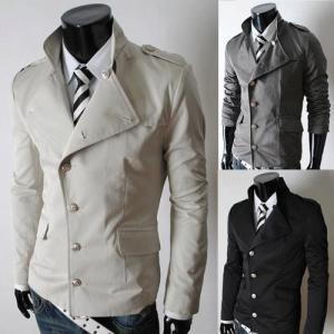 Men Autumn Winter Casual Collar Cot..