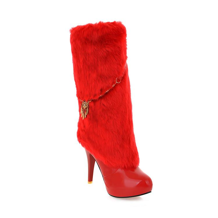 Women's Pure Color Stiletto High Heel Ankle Boots