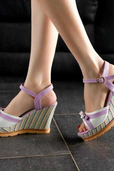 Women's Sweet Fashion Leasure Comfortable Wedge-soled Shoes